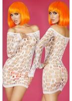Neon White Seamless Mini Dress Chemise