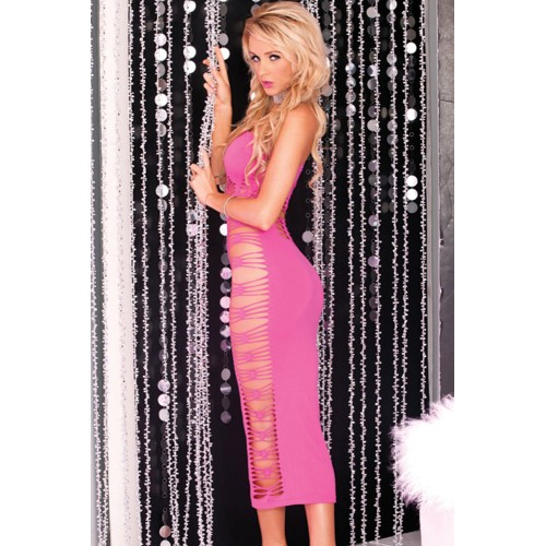 Big Spender Long Pink Tube Dress