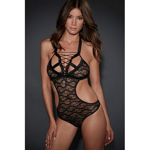 Bedroom Foreplay New Tie-up Lace Teddy
