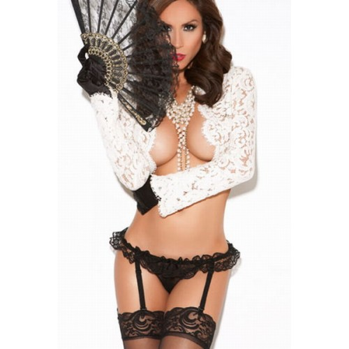 Black Panty With Attached Garters
