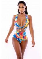 Neon Tropics Wrap Swimsuit Lingerie