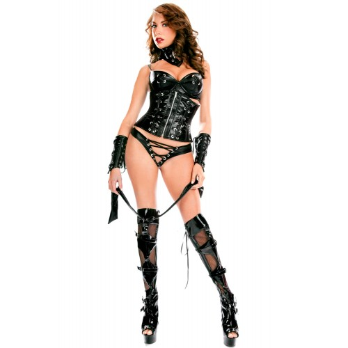 Daring Wetlook Faux Leather Clubwear