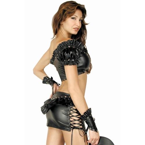 Exotic Ruffles Leather Clubwear